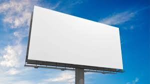 large blank bill board